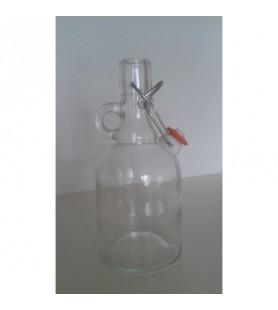 0,5 literes füles, csatos üveg