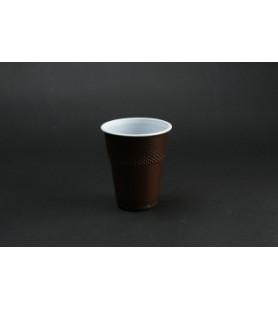Műanyag pohár 1,6 dl barna