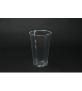 Műanyag pohár 2dl víztiszta