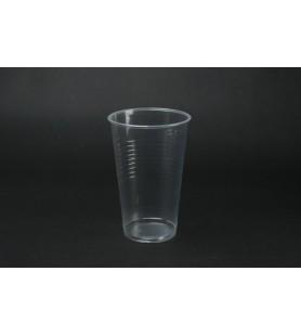 Műanyag pohár 3 dl víztiszta