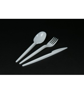 Műanyag kanál,-kés,-villa